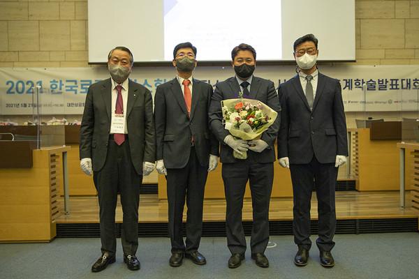 ▲ 장보영 위킵 대표가 한국로지스틱스대상에서 스타트업부문 대상을 수상했다.